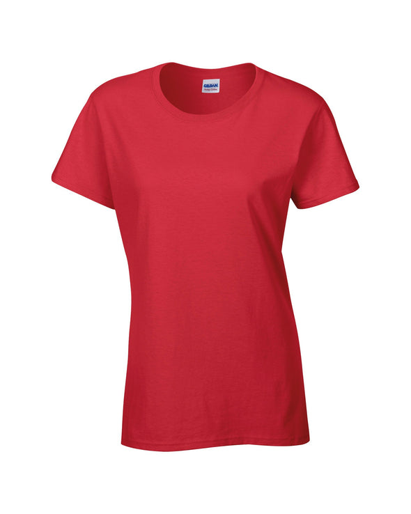 GD006 - Heavy Cotton Womens T-Shirt Womens T-Shirts Gildan Red S