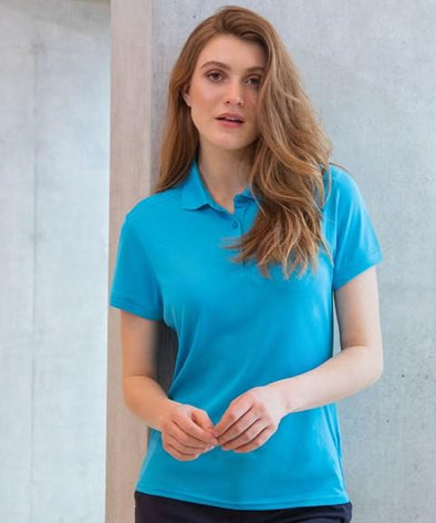 HB461 - Womens Slim Fit Stretch Wicking Polo Womens Polos Henbury