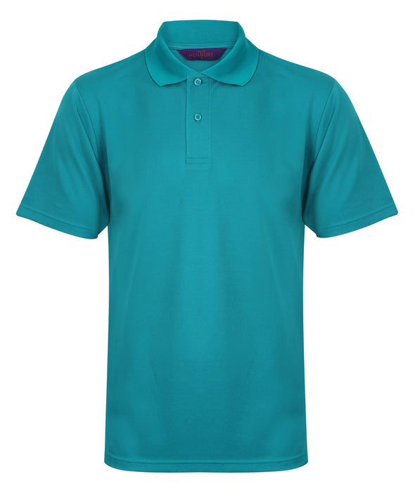HB475 - Coolplus Polo Mens Polos Henbury Bright Jade XS