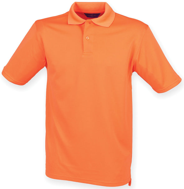 HB475 - Coolplus Polo Mens Polos Henbury Bright Orange XS