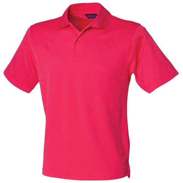 HB475 - Coolplus Polo Mens Polos Henbury Bright Pink XS