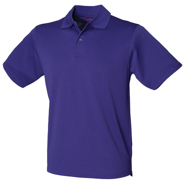 HB475 - Coolplus Polo Mens Polos Henbury Bright Purple XS