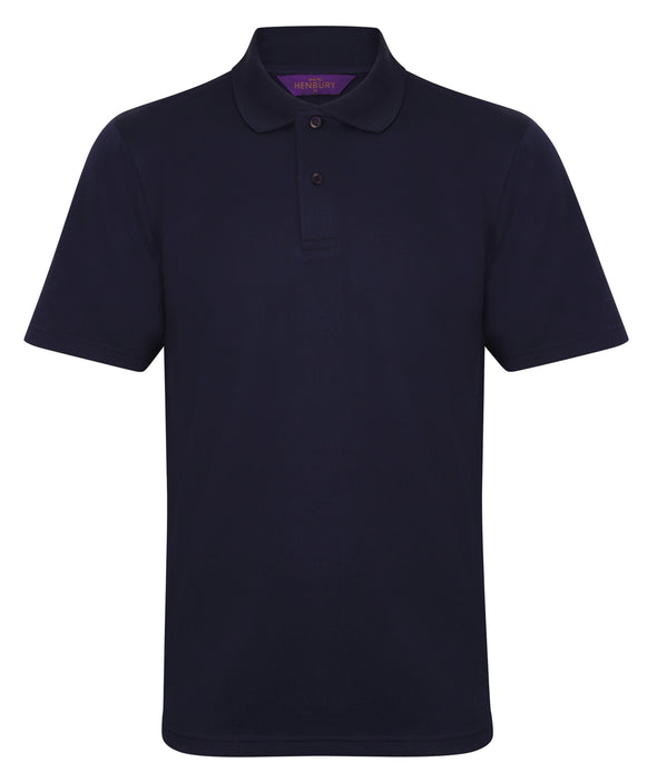 HB475 - Coolplus Polo Mens Polos Henbury Oxford Navy XS