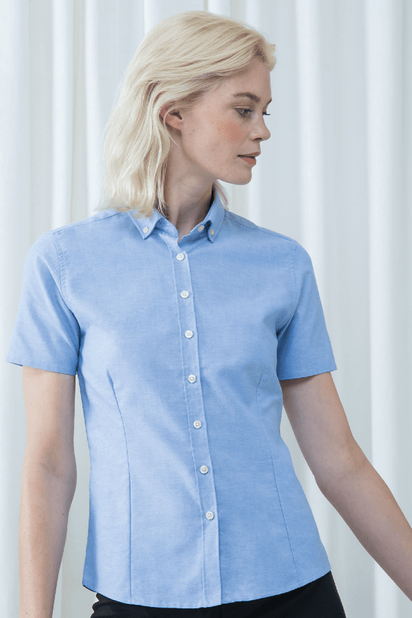 HB518 - Modern Oxford Shirt Womens Short Sleeve Shirts Henbury