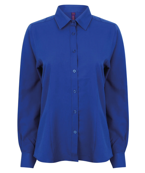 HB591 - Wicking Antibacterial Shirt Womens Long Sleeve Shirts Henbury Royal XS