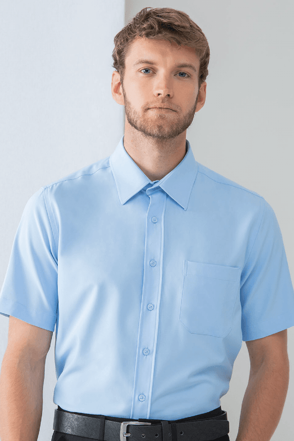HB595 - Wicking Antibacterial Shirt Mens Short Sleeve Shirts Henbury