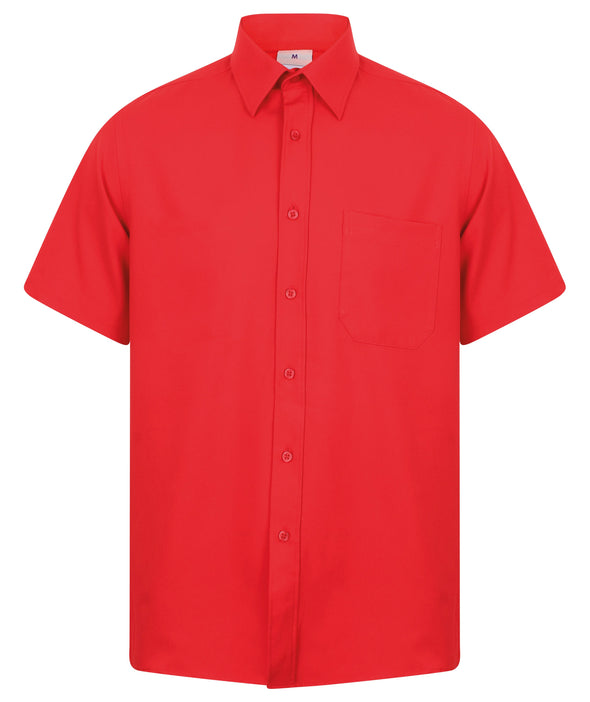 HB595 - Wicking Antibacterial Shirt Mens Short Sleeve Shirts Henbury Classic Red S