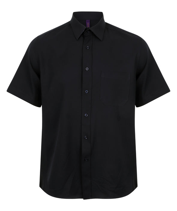 HB595 - Wicking Antibacterial Shirt Mens Short Sleeve Shirts Henbury Navy S
