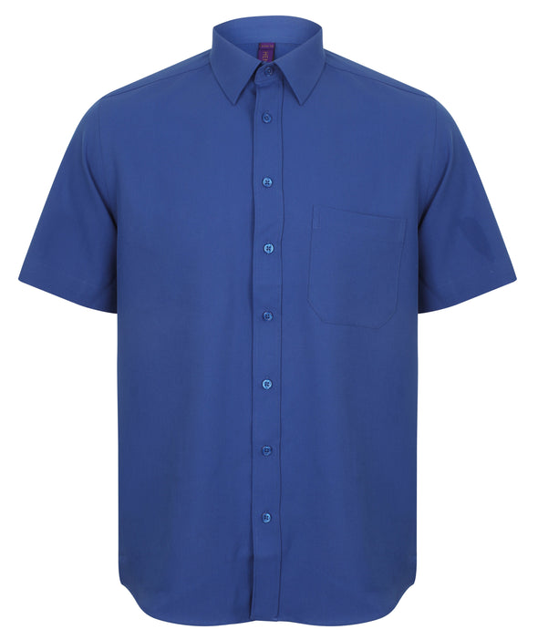 HB595 - Wicking Antibacterial Shirt Mens Short Sleeve Shirts Henbury Royal S