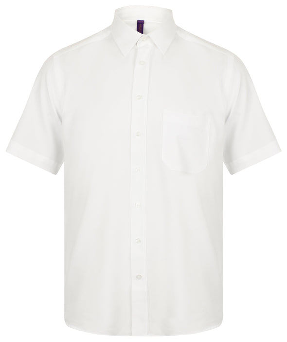 HB595 - Wicking Antibacterial Shirt Mens Short Sleeve Shirts Henbury White S