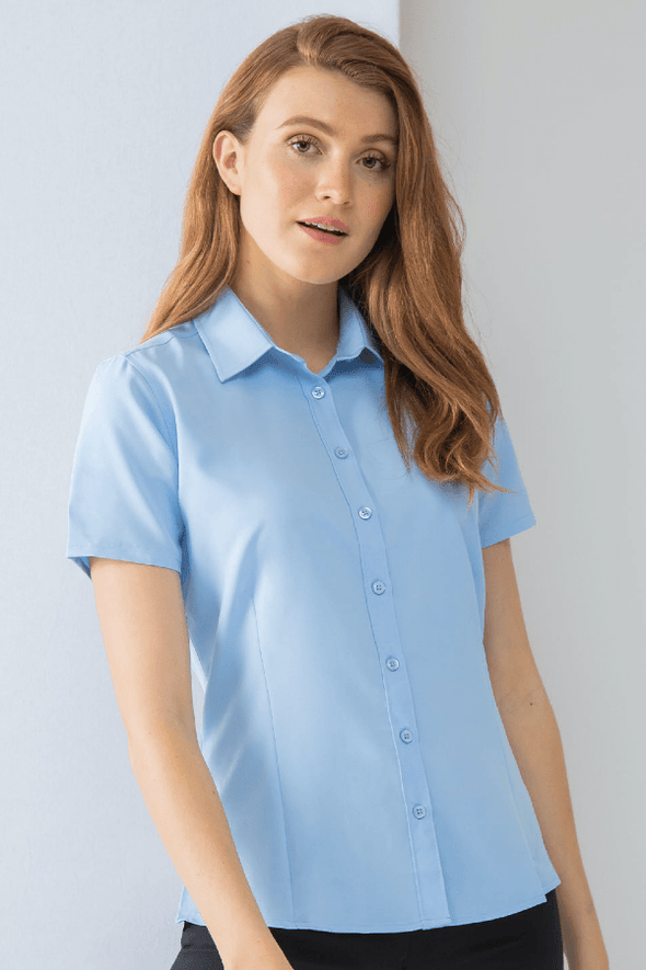 HB596 - Wicking Antibacterial Shirt Womens Short Sleeve Shirts Henbury