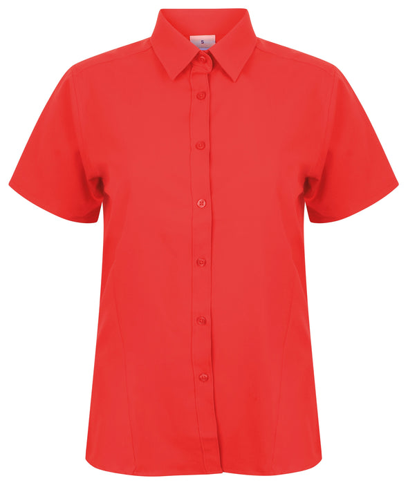 HB596 - Wicking Antibacterial Shirt Womens Short Sleeve Shirts Henbury Classic Red XS