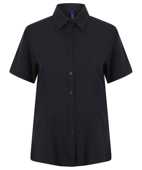 HB596 - Wicking Antibacterial Shirt Womens Short Sleeve Shirts Henbury Navy XS