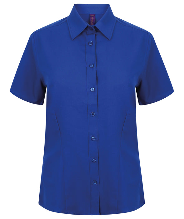 HB596 - Wicking Antibacterial Shirt Womens Short Sleeve Shirts Henbury Royal XS
