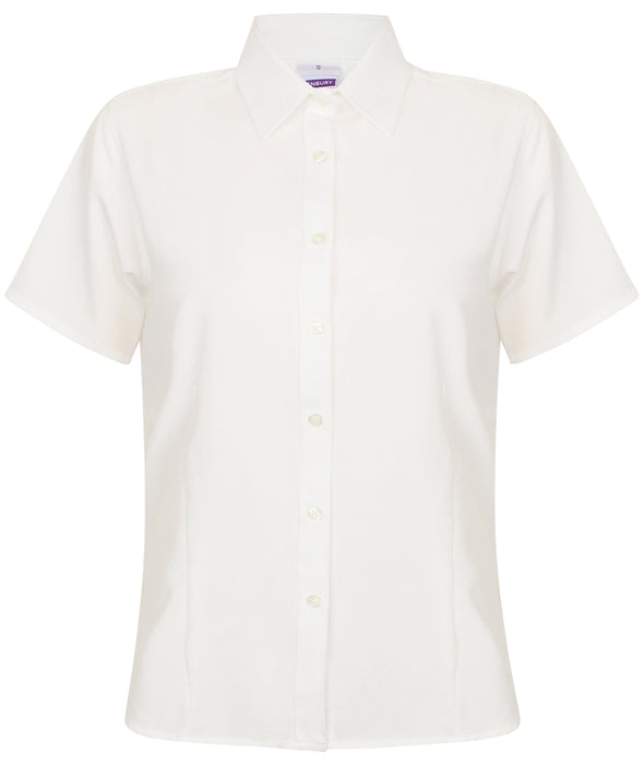 HB596 - Wicking Antibacterial Shirt Womens Short Sleeve Shirts Henbury White XS