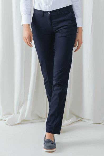 HB641 - Flat Fronted Chino Womens Chinos Henbury