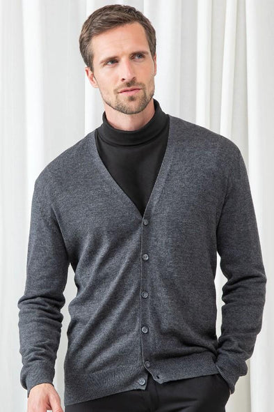 HB722 -Button Cardigan Mens Knitwear Henbury