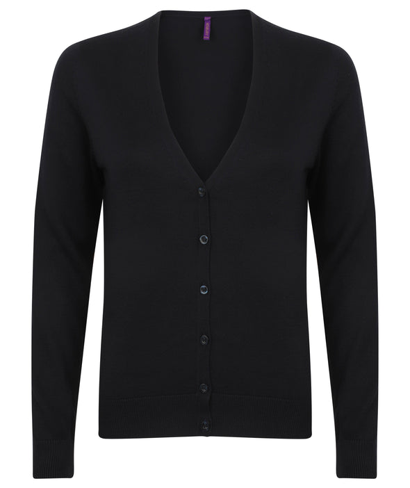 HB726 - V-Neck Cardigan Womens Knitwear Henbury Navy 2XS