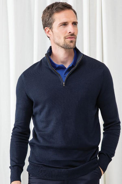 HB729 - 1/4 Zip Jumper Mens Knitwear Henbury