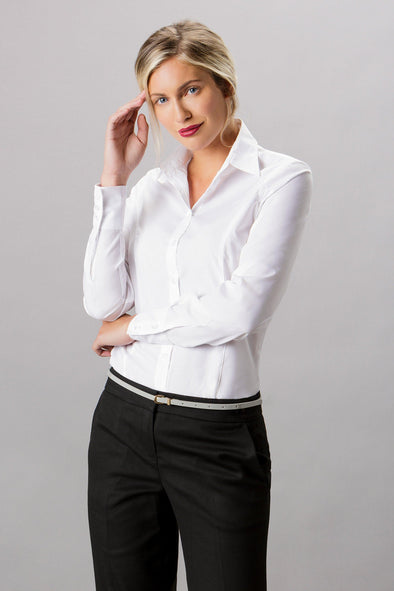 K743F - Business Shirt Womens Long Sleeve Shirts Kustom Kit