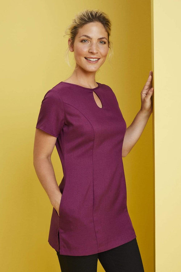 Keyhole Tunic with Pockets Beauty Tunics Simon Jersey Mulberry 6