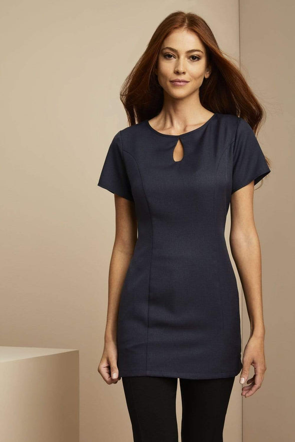Keyhole Tunic with Pockets Beauty Tunics Simon Jersey Navy 6
