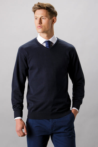 KK352 - Arundel V-Neck Sweater Mens Knitwear Kustom Kit