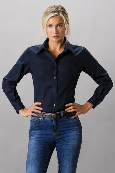 KK361 - Workplace Oxford Shirt Womens Long Sleeve Shirts Kustom Kit