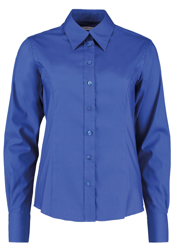 KK702 - Long Sleeve Oxford Shirt Womens Long Sleeve Shirts Kustom Kit Royal 8