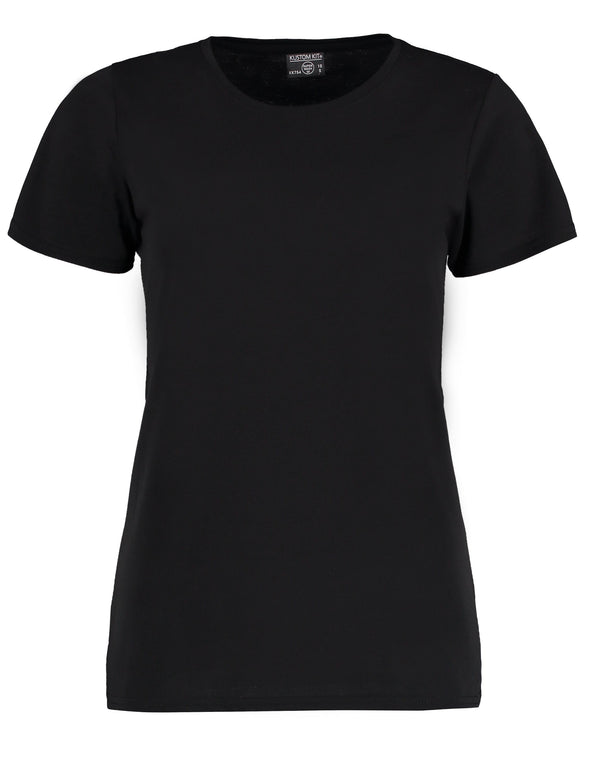 KK754 - Women's Superwash® 60° T-shirt Womens T-Shirts Kustom Kit Black 8