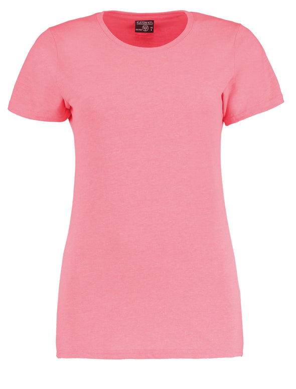 KK754 - Women's Superwash® 60° T-shirt Womens T-Shirts Kustom Kit Coral Marl 8