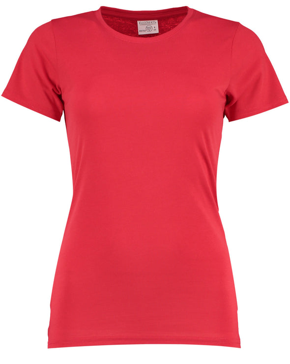 KK754 - Women's Superwash® 60° T-shirt Womens T-Shirts Kustom Kit Red 8