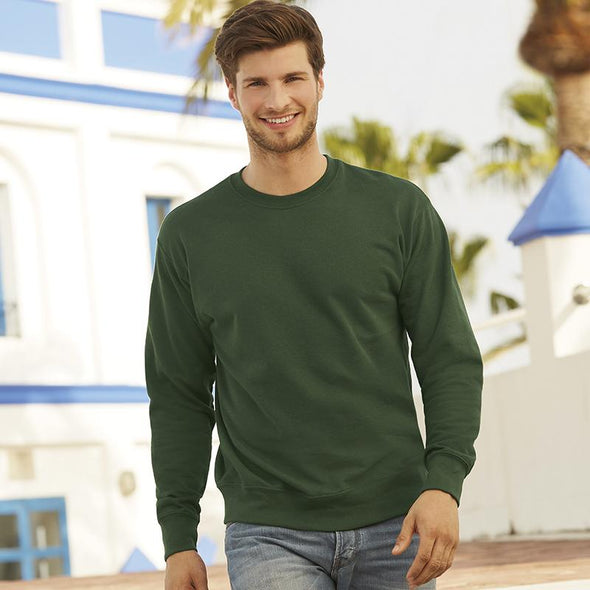 Lightweight Set-In Sweatshirt Mens Sweatshirts Fruit of the Loom