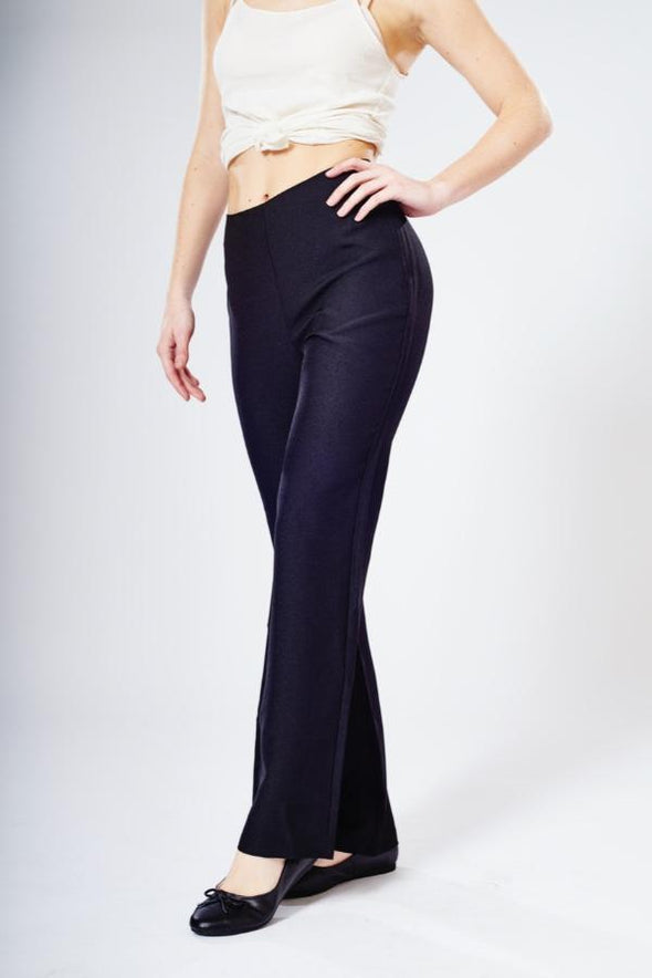"Lili Straight Leg Trouser - Unhemmed 34"" Length Salon & Spa Trousers La Beeby"