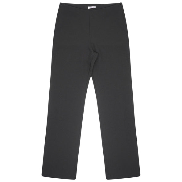 "Lili Straight Leg Trouser - Unhemmed 34"" Length Salon & Spa Trousers La Beeby Black 6"