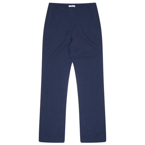 "Lili Straight Leg Trouser - Unhemmed 34"" Length Salon & Spa Trousers La Beeby Navy 6"