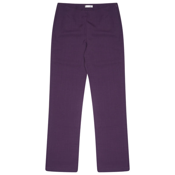 "Lili Straight Leg Trouser - Unhemmed 34"" Length Salon & Spa Trousers La Beeby Plum 6"