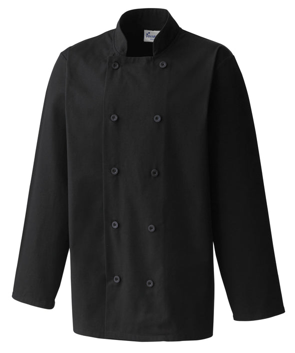Long Sleeve Chefs Jacket Chefs Jacket Premier Black XS
