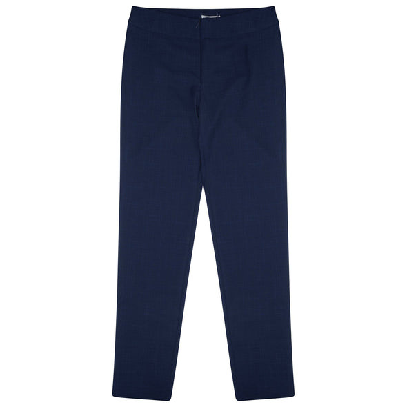 "Macy Slim Leg Trouser - Regular 28"" Length Salon & Spa Trousers La Beeby Navy 6"