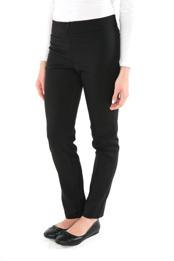 "Macy Slim Leg Trouser - Unhemmed 33"" Length Salon & Spa Trousers La Beeby"
