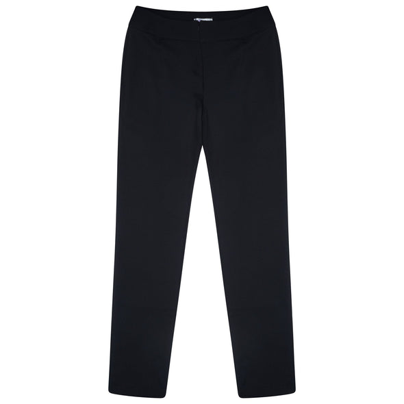 "Macy Slim Leg Trouser - Unhemmed 33"" Length Salon & Spa Trousers La Beeby Black 6"