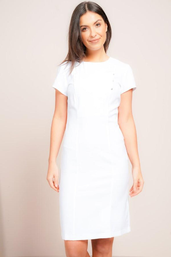 Madeleine Dress Beauty Dresses La Beeby White 6