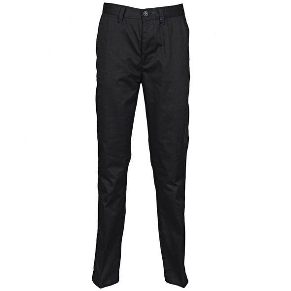 Mens 65/35 Flat Fronted Chino Mens Chinos Henbury Black 30 Regular