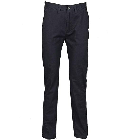 Mens 65/35 Flat Fronted Chino Mens Chinos Henbury Navy 30 Regular