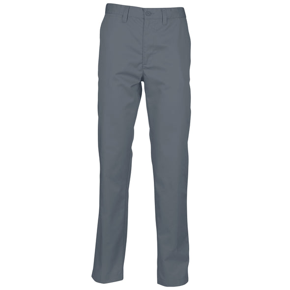 Mens 65/35 Flat Fronted Chino Mens Chinos Henbury Steel Grey 30 Regular