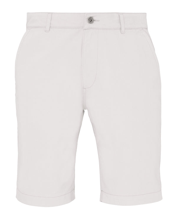 Mens Chino Shorts Mens Chinos Asquith & Fox White XS