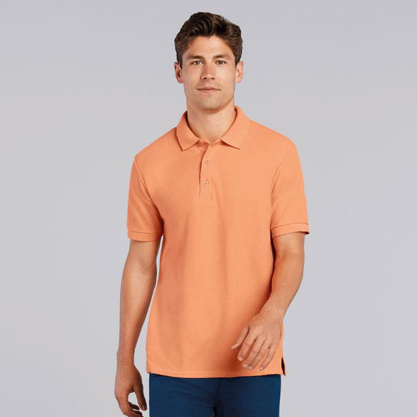 Mens Premium Cotton Double Pique Polo Mens Polos Gildan