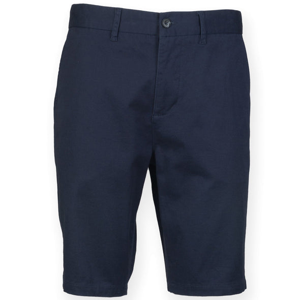 Mens Stretch Chino Shorts Mens Chinos Front Row & Co Navy 28