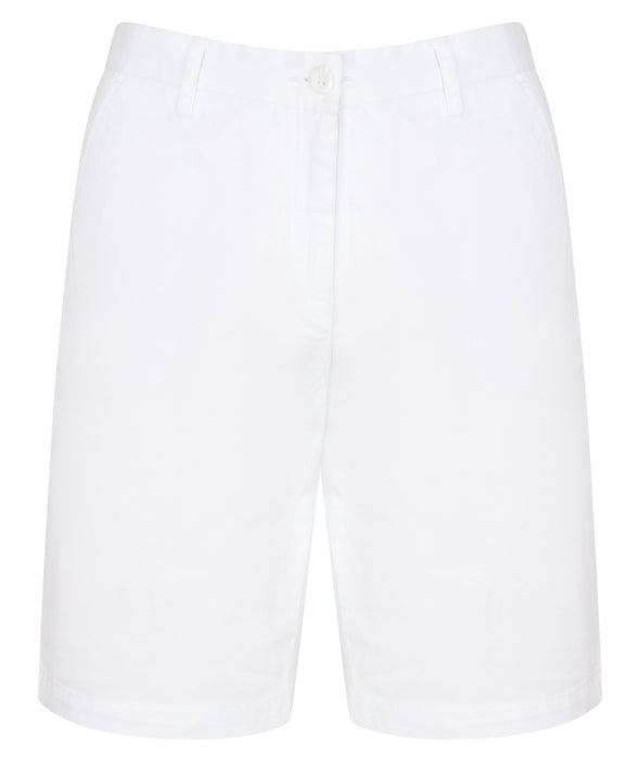 Mens Stretch Chino Shorts Mens Chinos Front Row & Co White 28