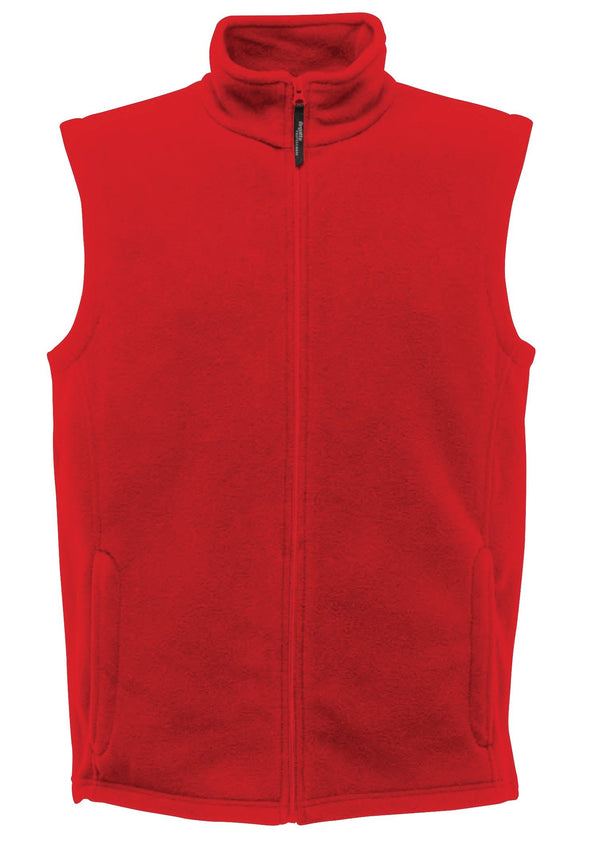 Microfleece Bodywarmer Mens Bodywarmers Regatta Professional Classic Red S